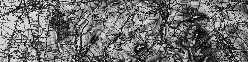 Old map of Leeds and Liverpool Canal in 1896