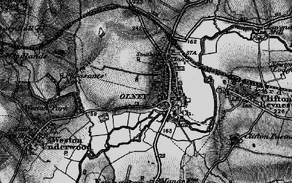 Old map of Olney in 1896