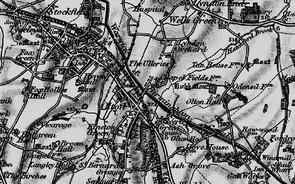 Old map of Olton in 1899