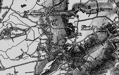 Old map of Olveston in 1897