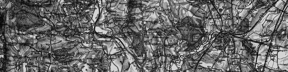 Old map of Ombersley in 1898
