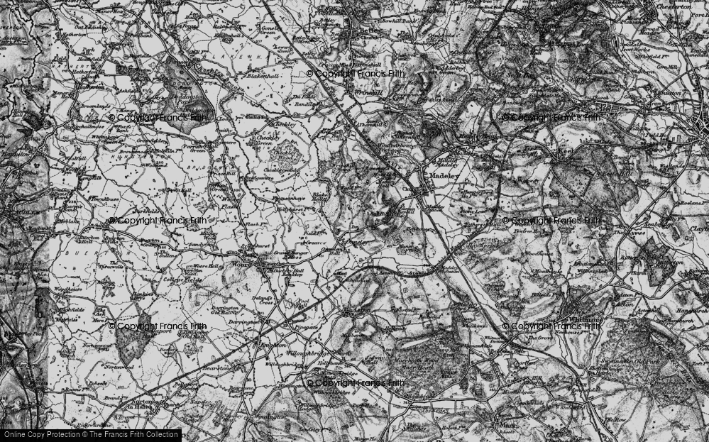 Old Map of Onneley, 1897 in 1897
