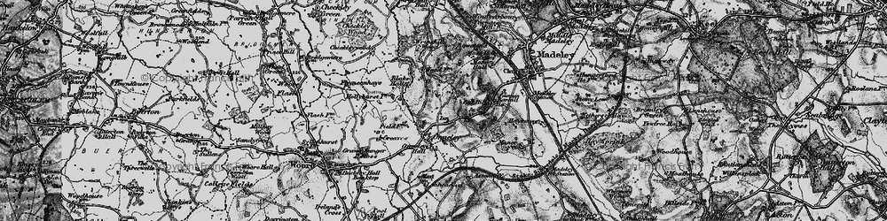 Old map of Wrinehill Wood in 1897