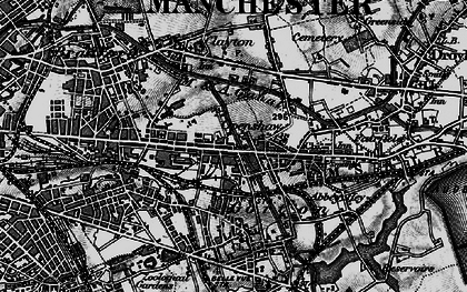 Old map of Openshaw in 1896