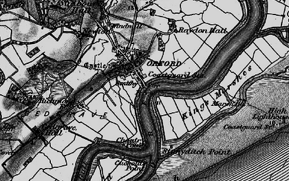 Old map of Orford in 1895