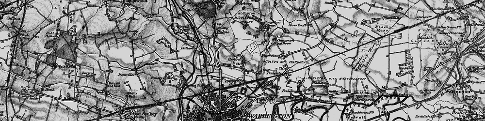 Old map of Orford in 1896