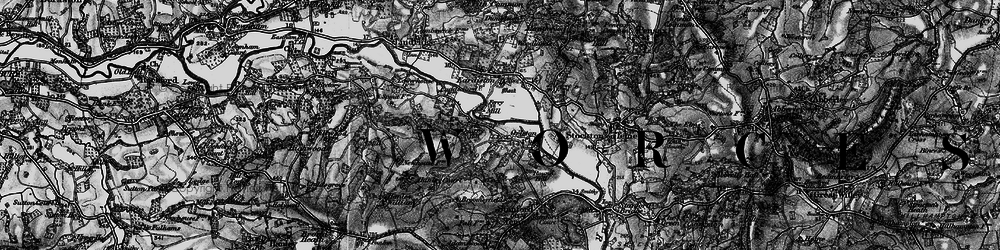 Old map of Orleton in 1898