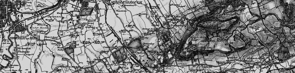 Old map of Ormesby in 1898
