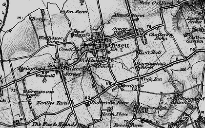 Old map of White Crofts in 1896