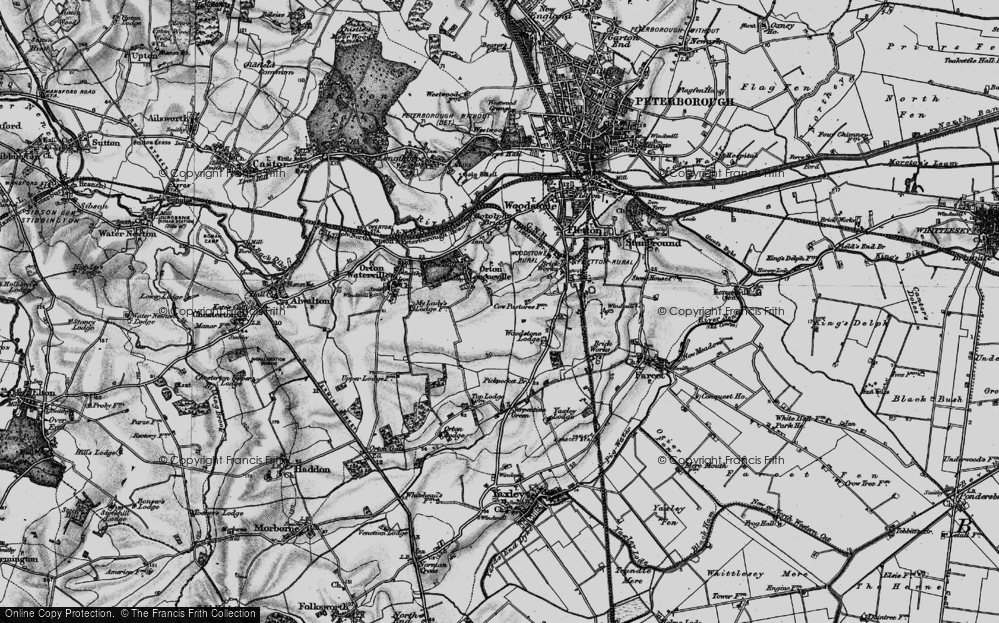 Old Map of Orton Malborne, 1898 in 1898