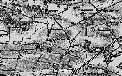 Old map of Orton Rigg in 1897