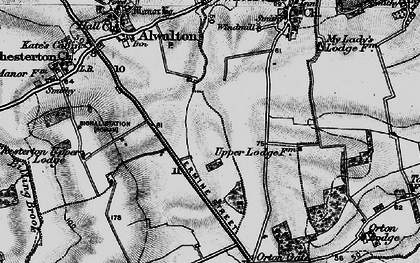 Old map of Toon's Lodge in 1898