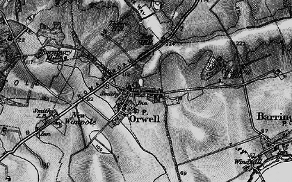 Old map of Orwell in 1896