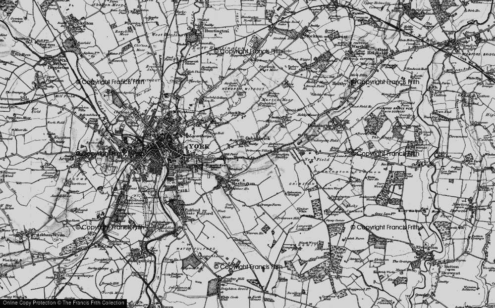Old Map of Osbaldwick, 1898 in 1898