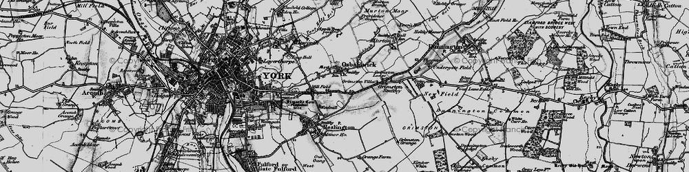 Old map of Osbaldwick in 1898