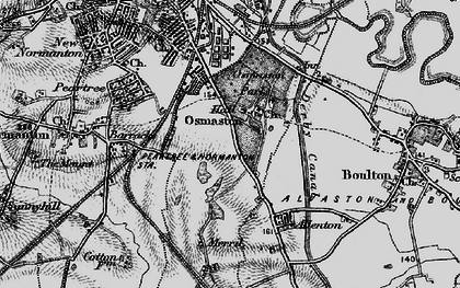 Old map of Osmaston in 1895