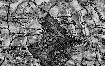 Old map of Yeldersley Hall in 1897