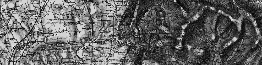 Old map of Osmotherley in 1898