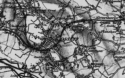 Old map of Ossett in 1896