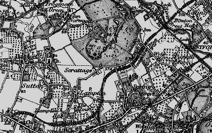 Old map of Osterley in 1896