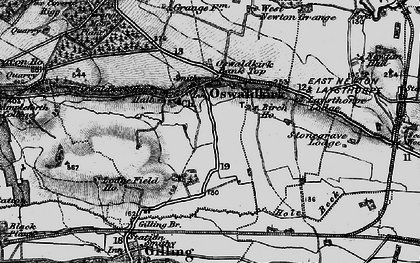 Old map of Oswaldkirk in 1898