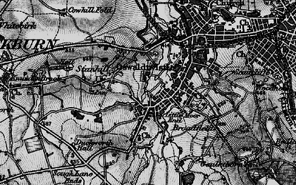 Old map of Oswaldtwistle in 1896