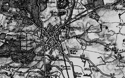 Old map of Oswestry in 1897