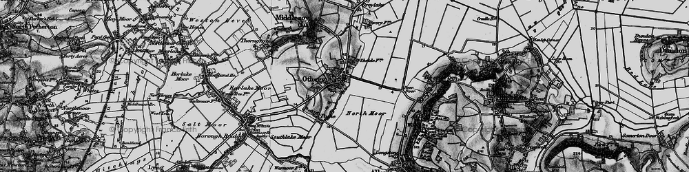 Old map of Othery in 1898