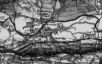 Old map of Otley in 1898