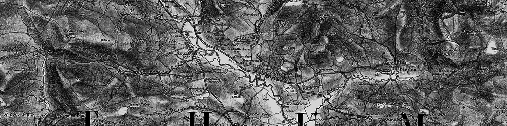 Old map of Woodhill in 1897