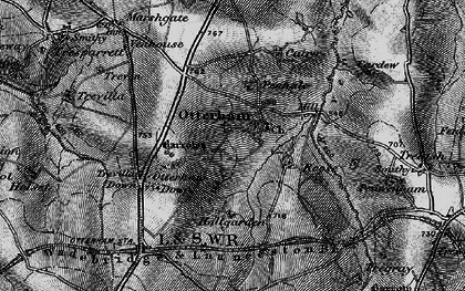Old map of Otterham in 1895