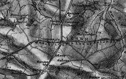 Old map of Otterham Station in 1895