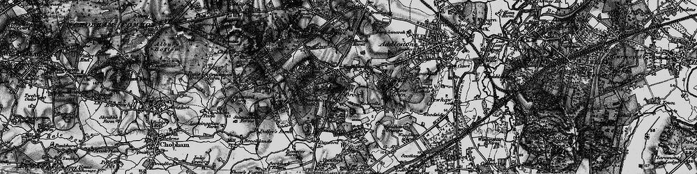 Old map of Ottershaw in 1896
