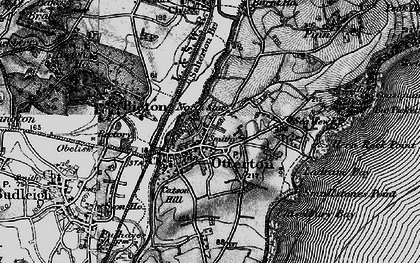 Old map of Otterton in 1898