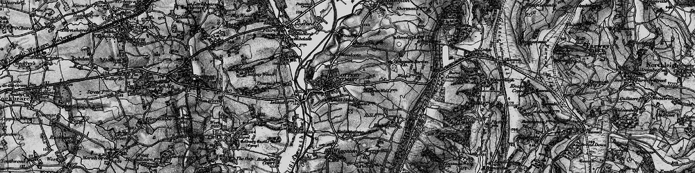 Old map of Ottery St Mary in 1898