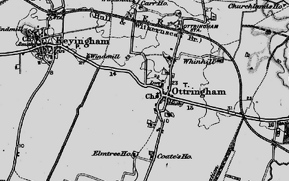 Old map of Westlands Plantation in 1895