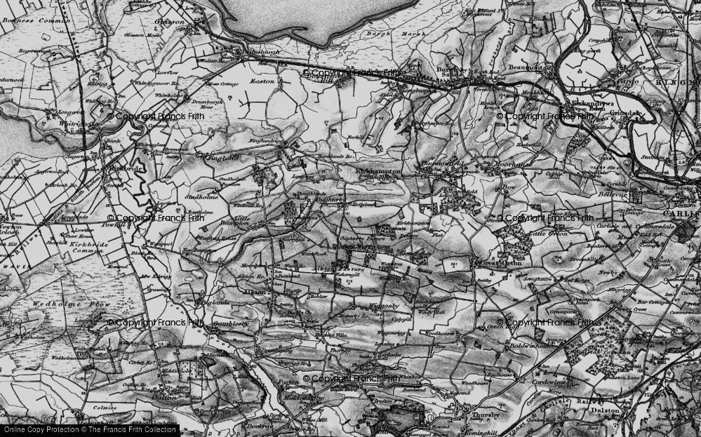 Old Map of Historic Map covering Laverickstone in 1897