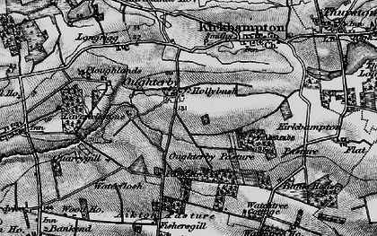 Old map of Laverickstone in 1897