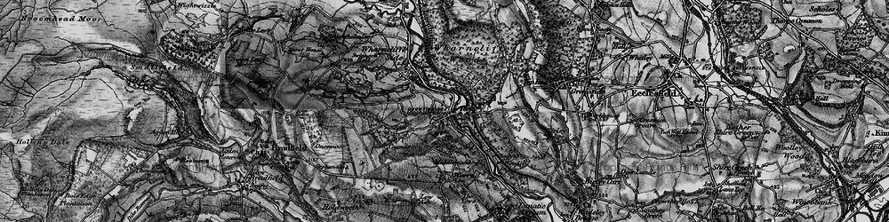 Old map of Wharncliffe Wood in 1896