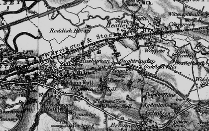 Old map of Oughtrington in 1896
