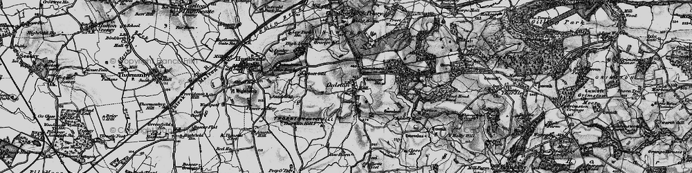 Old map of Adam's Hall in 1898