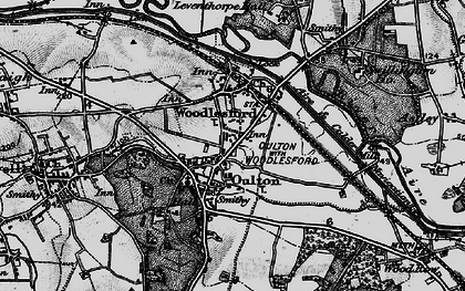 Old map of Aire & Calder Navigation in 1896