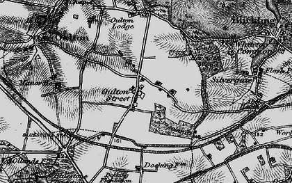 Old map of Leaselands, The in 1898