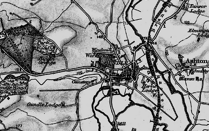 Old map of Oundle in 1898
