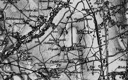 Old map of Ouston in 1898