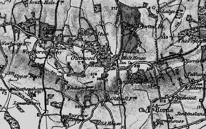 Old map of Outwood in 1895