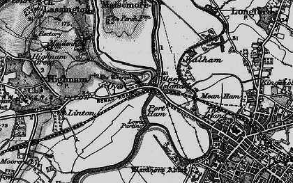 Old map of Over in 1896