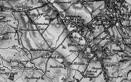 Old map of Over in 1897