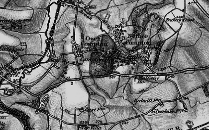 Old map of Babylon Hill in 1898