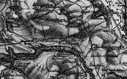 Old map of Over Haddon in 1896